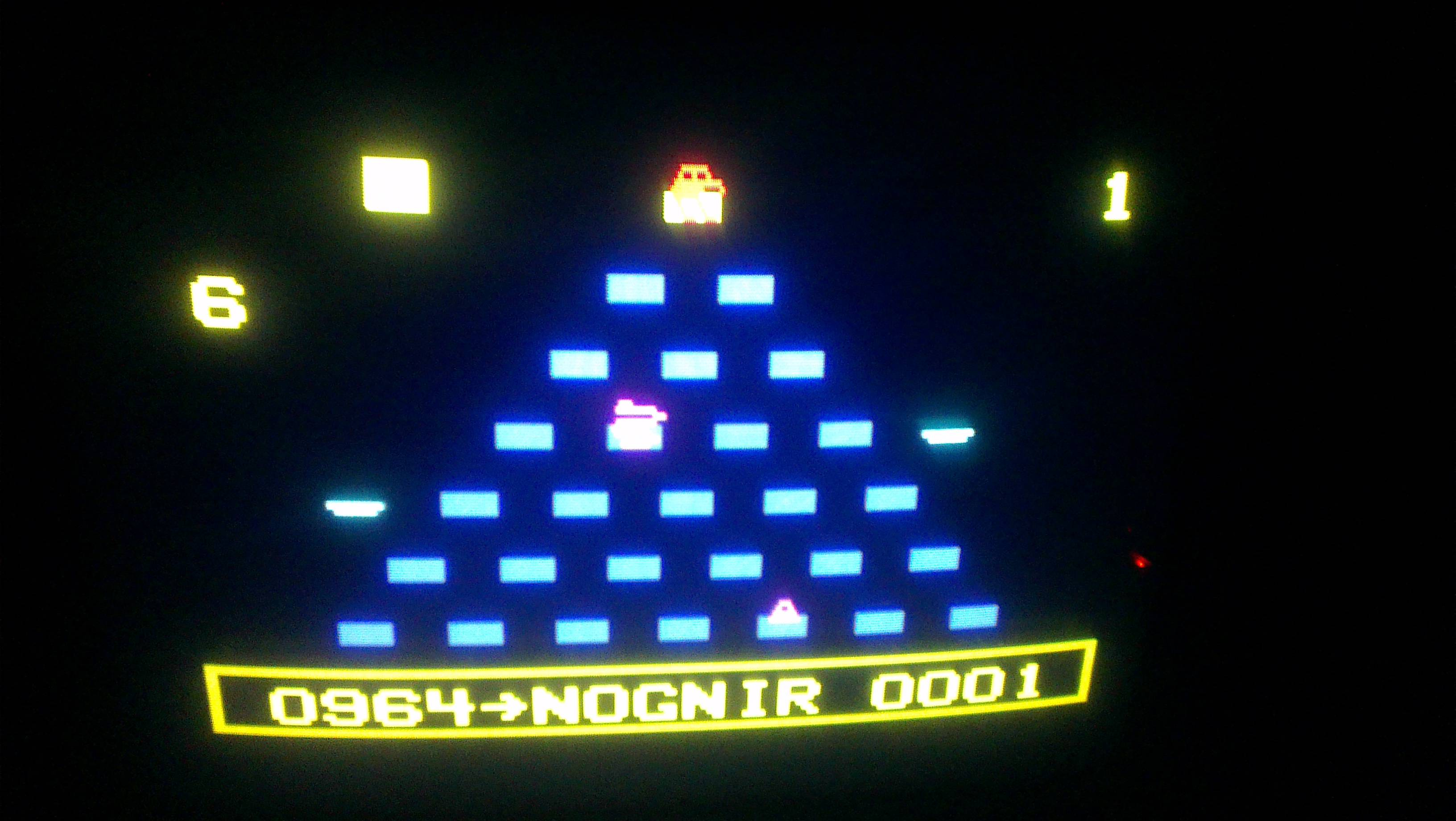 Q*bert 964 points