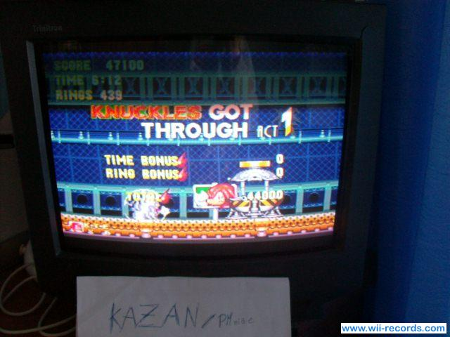 Sonic and Knuckles 47,100 points