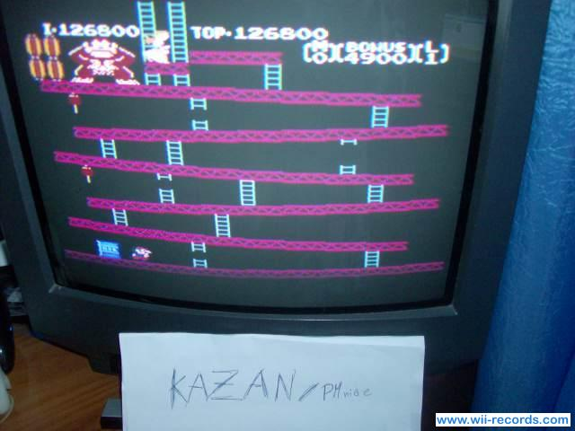 Donkey Kong 126,800 points