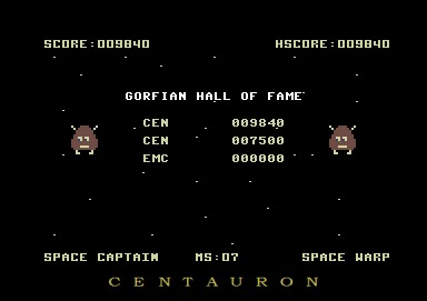 Centauron: Gorf (Commodore 64 Emulated) 9,840 points on 2014-02-13 19:10:49