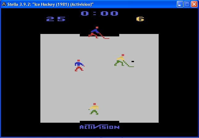 arenafoot: Ice Hockey [Point Difference] (Atari 2600 Emulated Expert/A Mode) 19 points on 2014-02-14 00:25:45