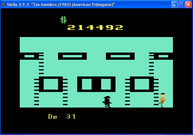 arenafoot: Tax Avoiders (Atari 2600 Emulated) 214,492 points on 2014-02-15 20:33:12