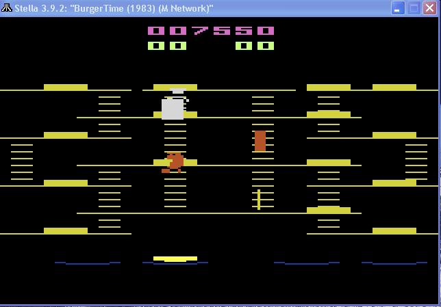 BurgerTime 7,550 points