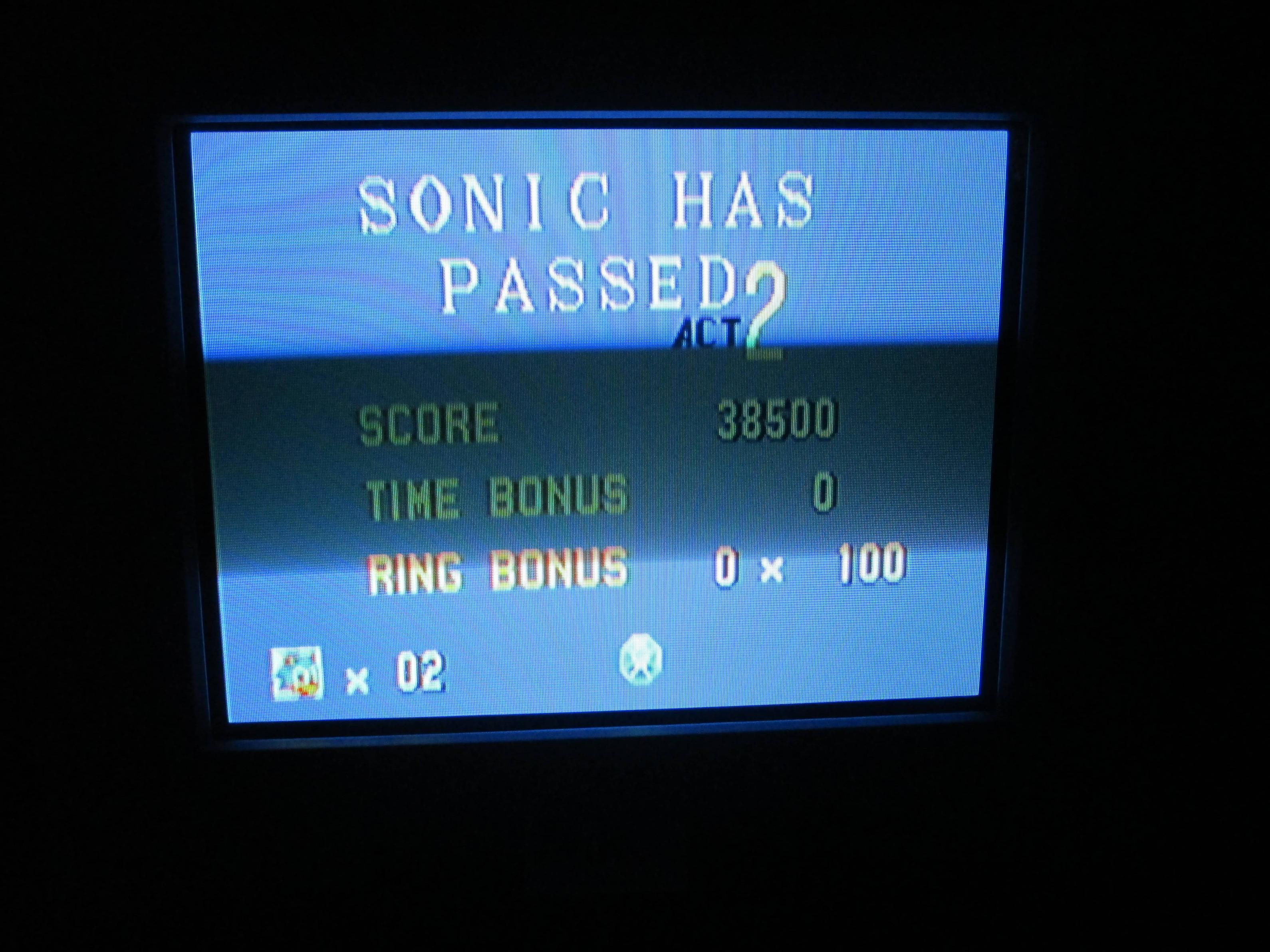 Sonic the Hedgehog 38,500 points