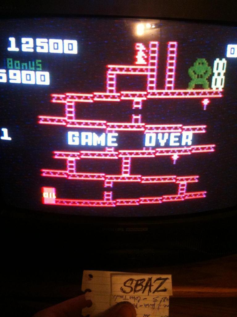 Donkey Kong: Skill 1 12,500 points
