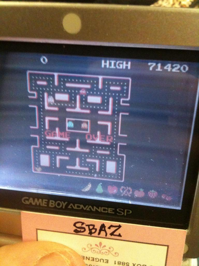 Namco Museum: Ms. Pac-Man 71,420 points