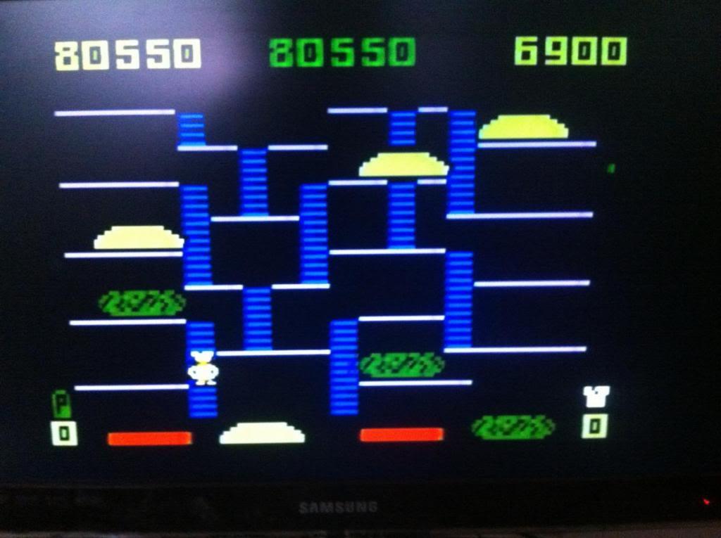 BurgerTime 80,550 points