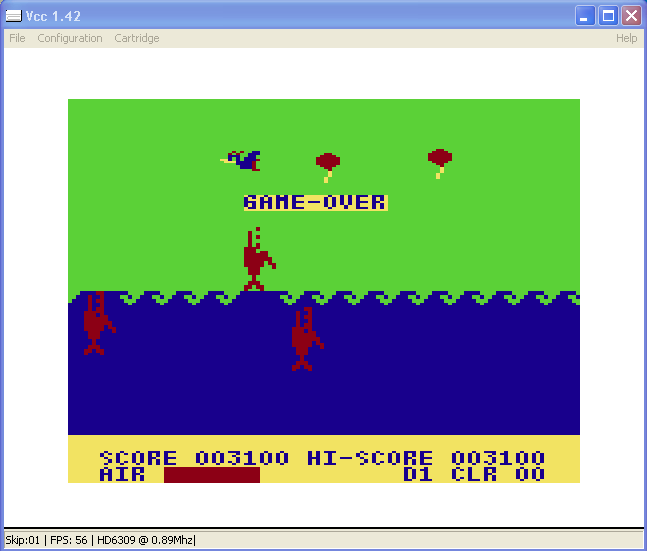 arenafoot: Don Pan (TRS-80 CoCo Emulated) 3,100 points on 2014-02-20 13:11:41