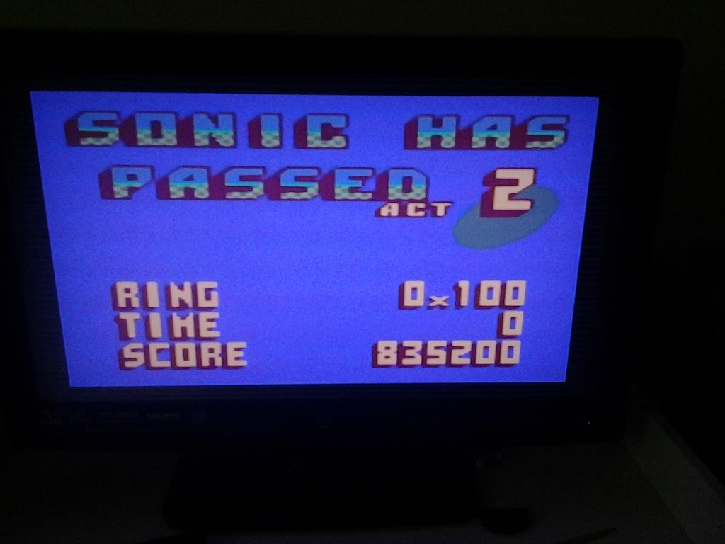 Sonic 2 835,200 points