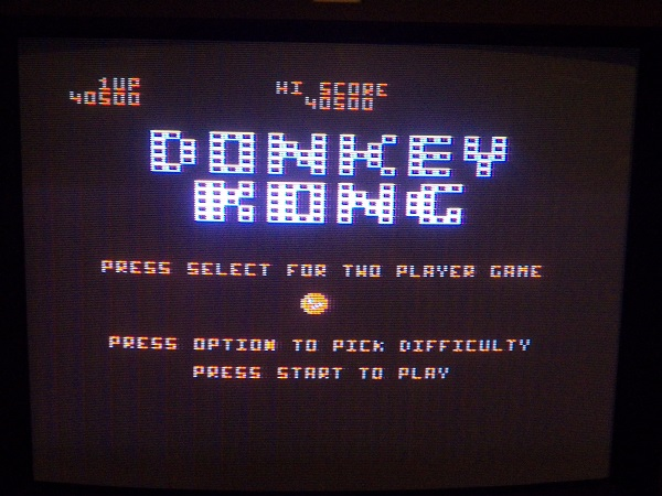 Donkey Kong 40,500 points