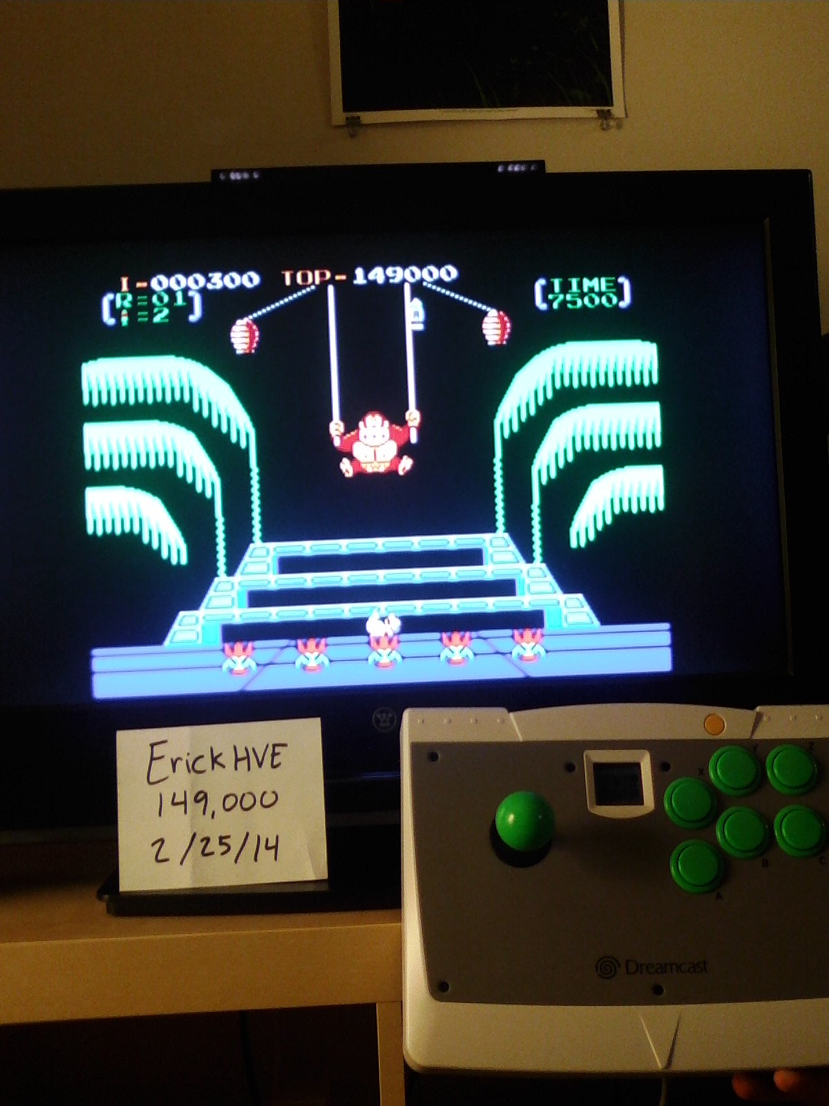 Donkey Kong 3: Game A 149,000 points