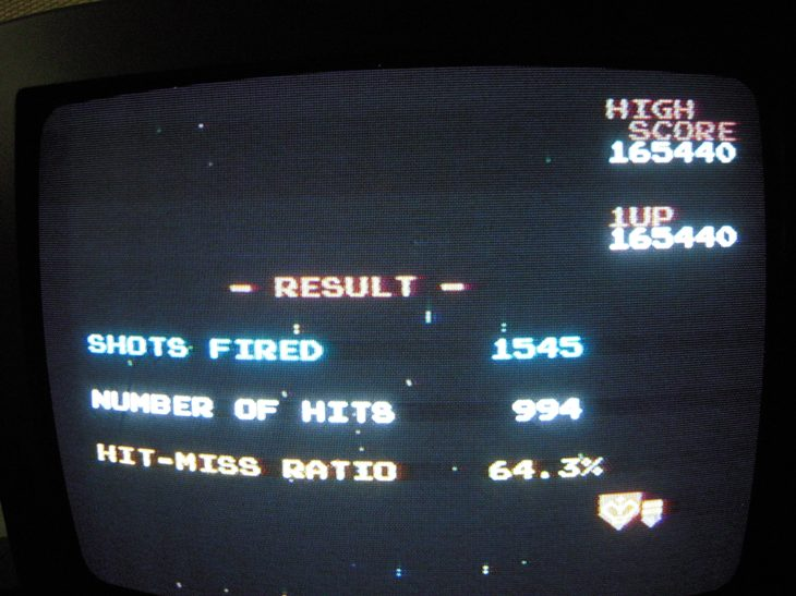 Galaga 165,440 points