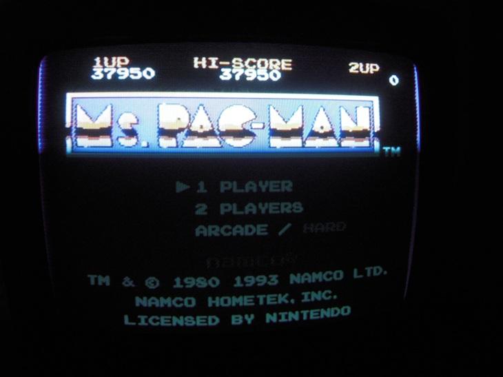 Ms. Pac-Man [Namco] 37,950 points