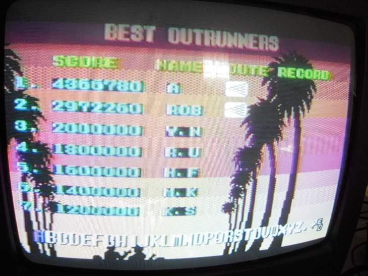 Outrun 4,366,780 points