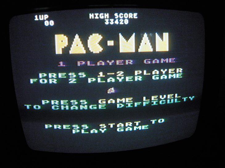 Pac-Man: Cherries Start 33,420 points