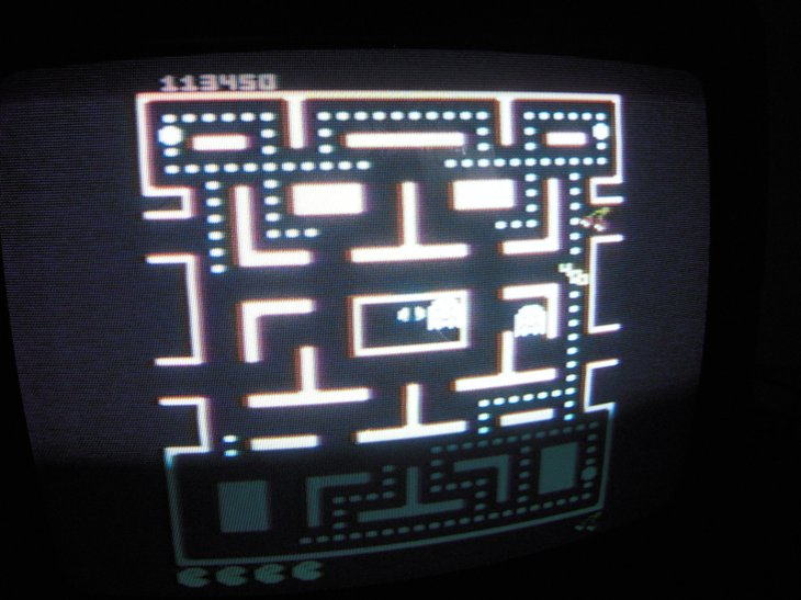 Pac-Man Collection: Ms. Pac-Man [Cherries/Plus Off/Fast On] 113,450 points