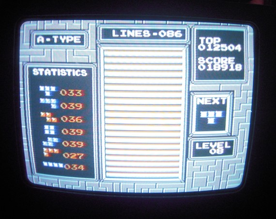 Tetris 18,918 points