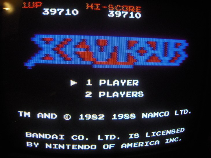 Xevious 39,710 points