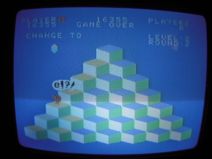 Q*bert 16,355 points