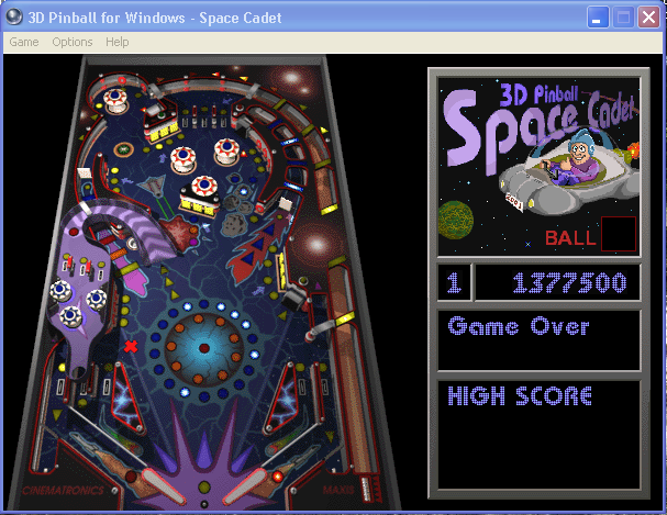 3D Pinball: Space Cadet 1,377,500 points