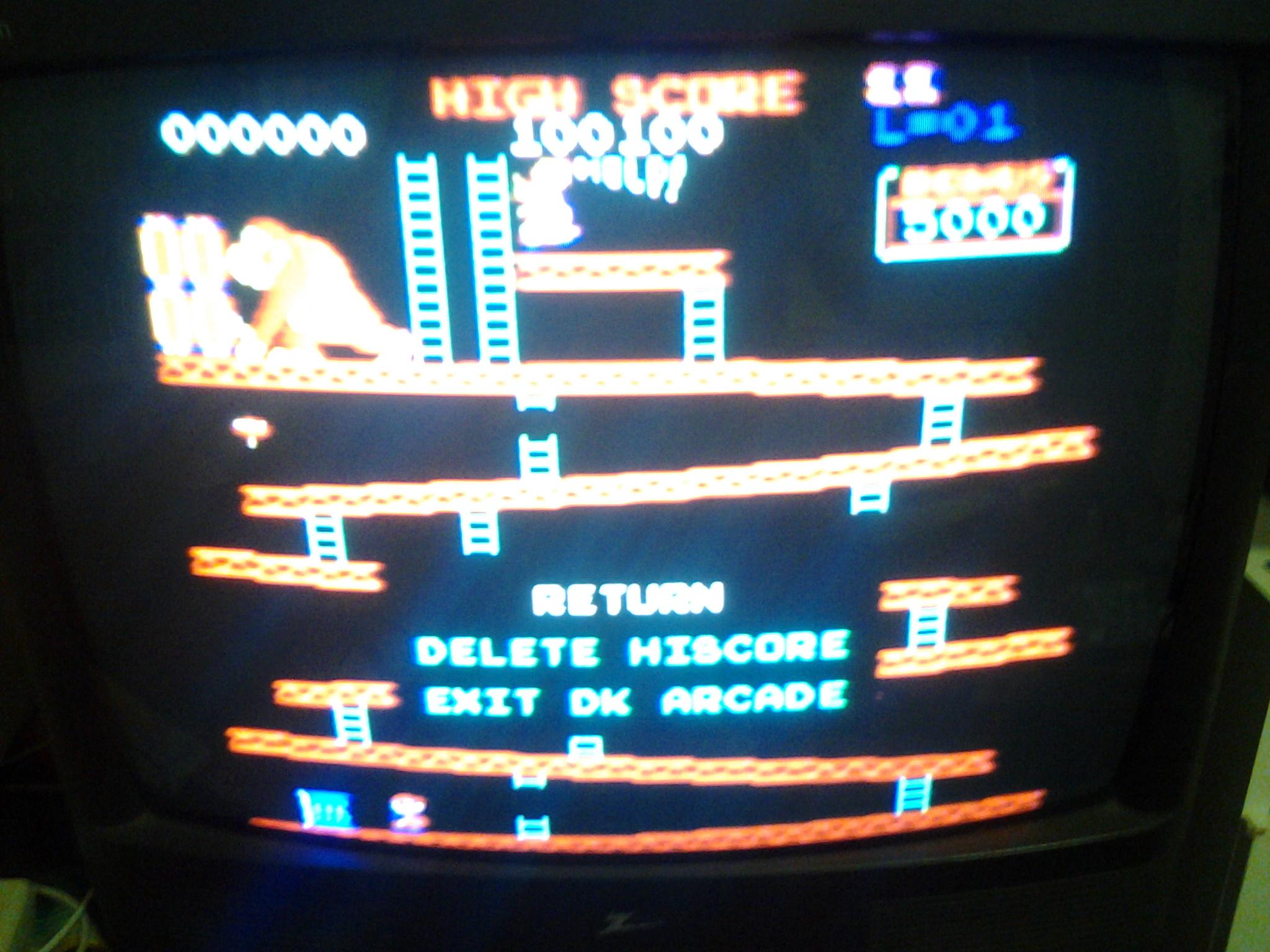 Donkey Kong 64: DK Arcade 100,100 points
