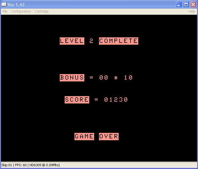 arenafoot: Poltergeist (TRS-80 CoCo Emulated) 1,230 points on 2014-02-27 14:41:27