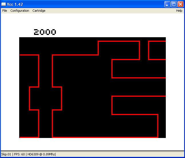 arenafoot: Temple Of Rom (TRS-80 CoCo Emulated) 2,000 points on 2014-02-27 14:42:16