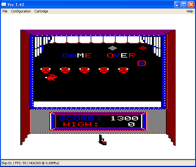 arenafoot: Shooting Gallery (TRS-80 CoCo Emulated) 1,300 points on 2014-02-27 14:43:00