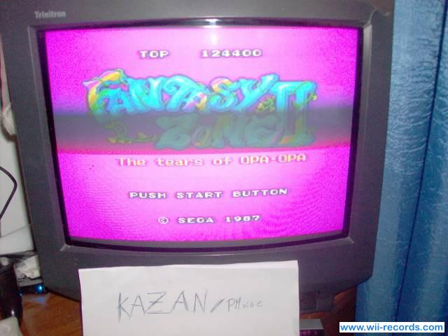 Fantasy Zone II 124,400 points