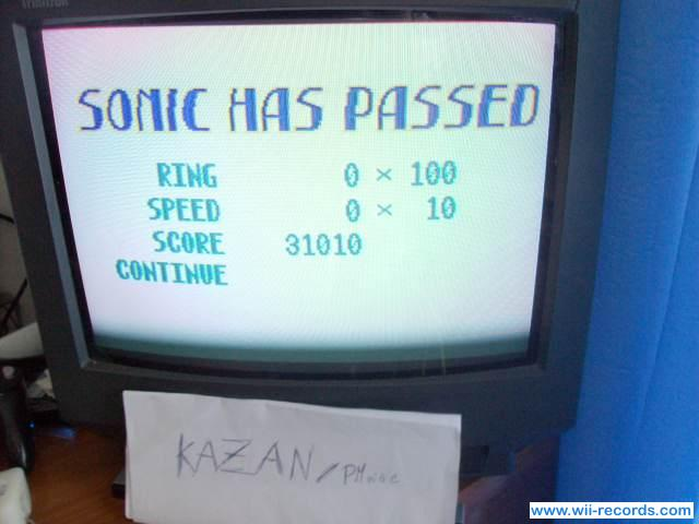 Sonic Chaos 31,010 points