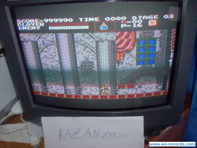 Castlevania 999,990 points