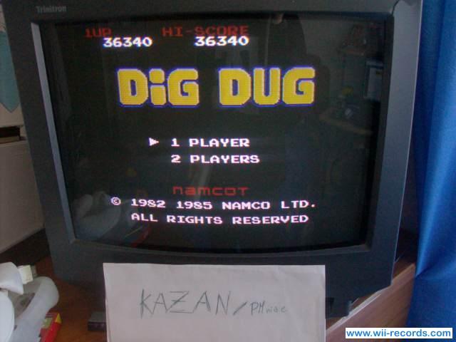Dig Dug 36,340 points