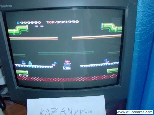 Mario Bros. 999,990 points