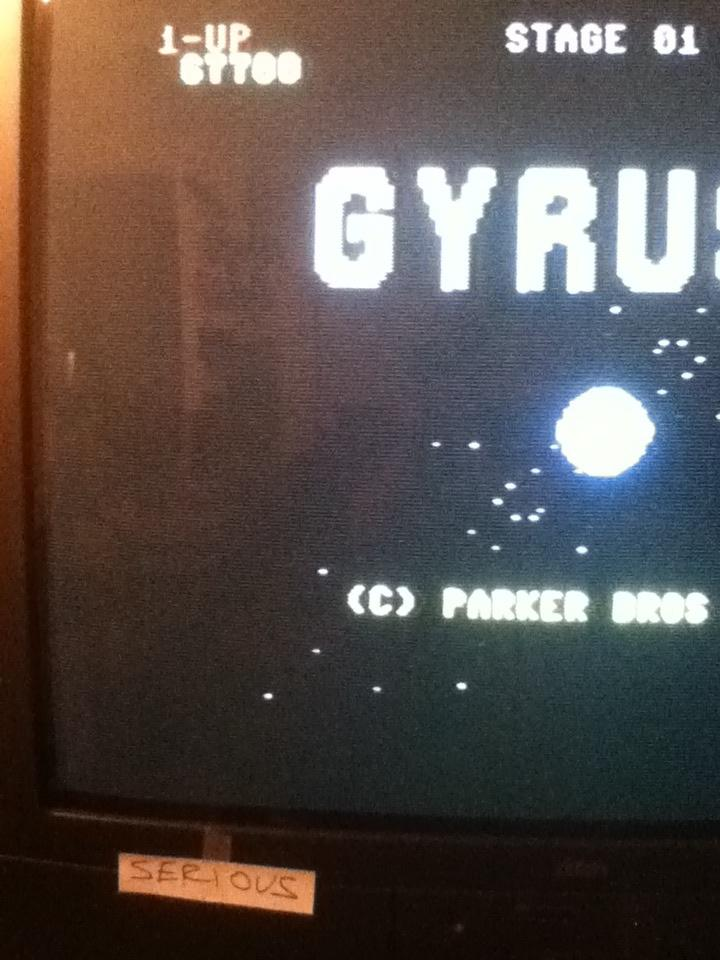 Gyruss 67,700 points