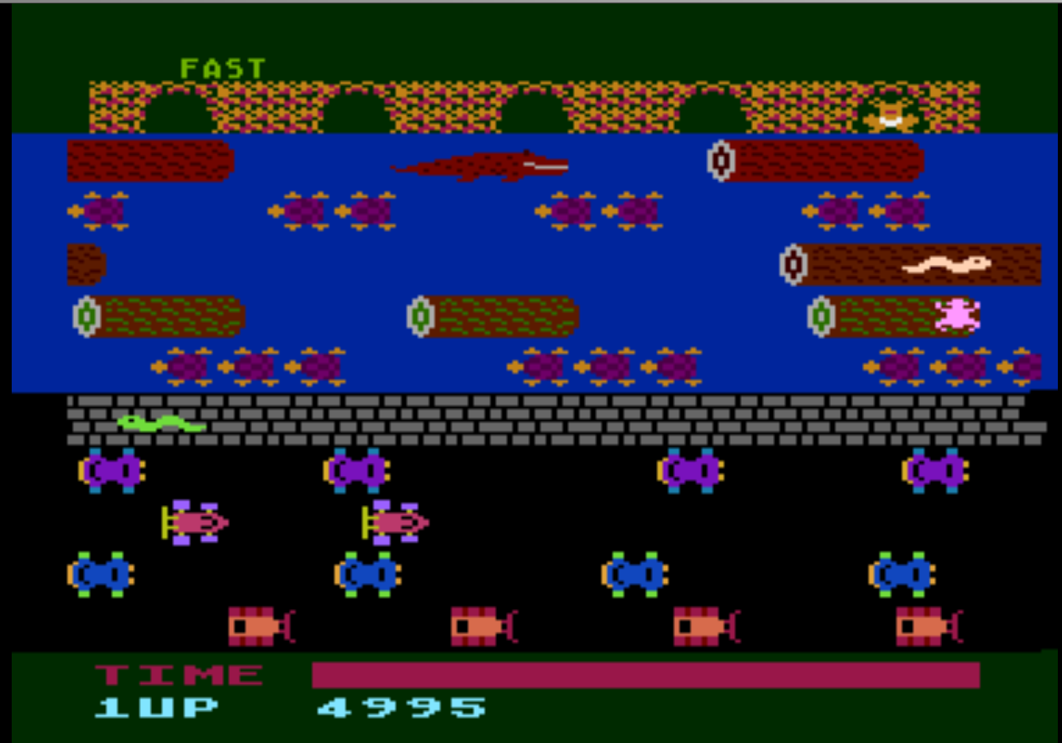 Frogger [Parker Bros] 4,995 points