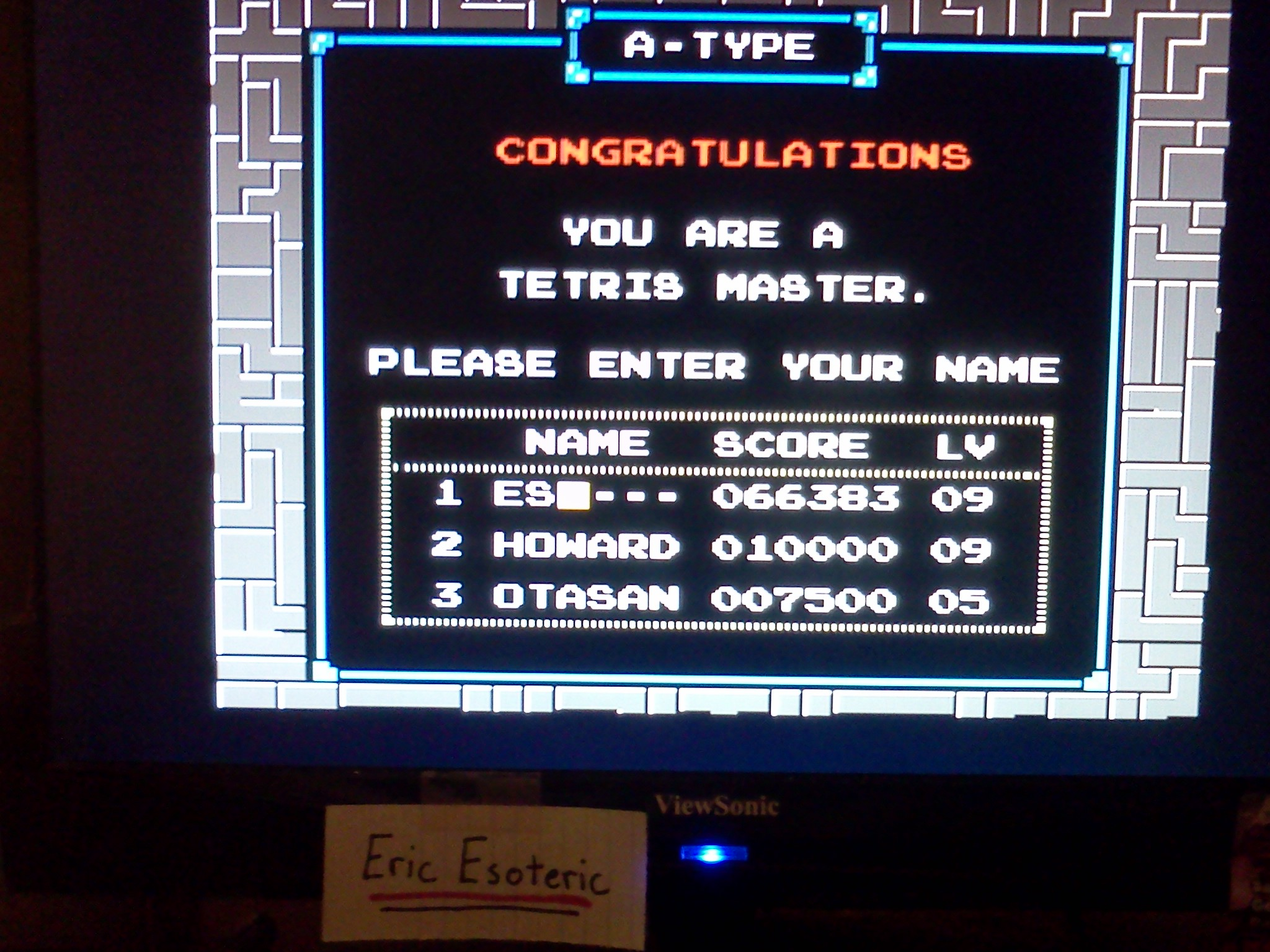 EricEsoteric: Tetris (NES/Famicom) 66,383 points on 2013-08-25 15:17:43