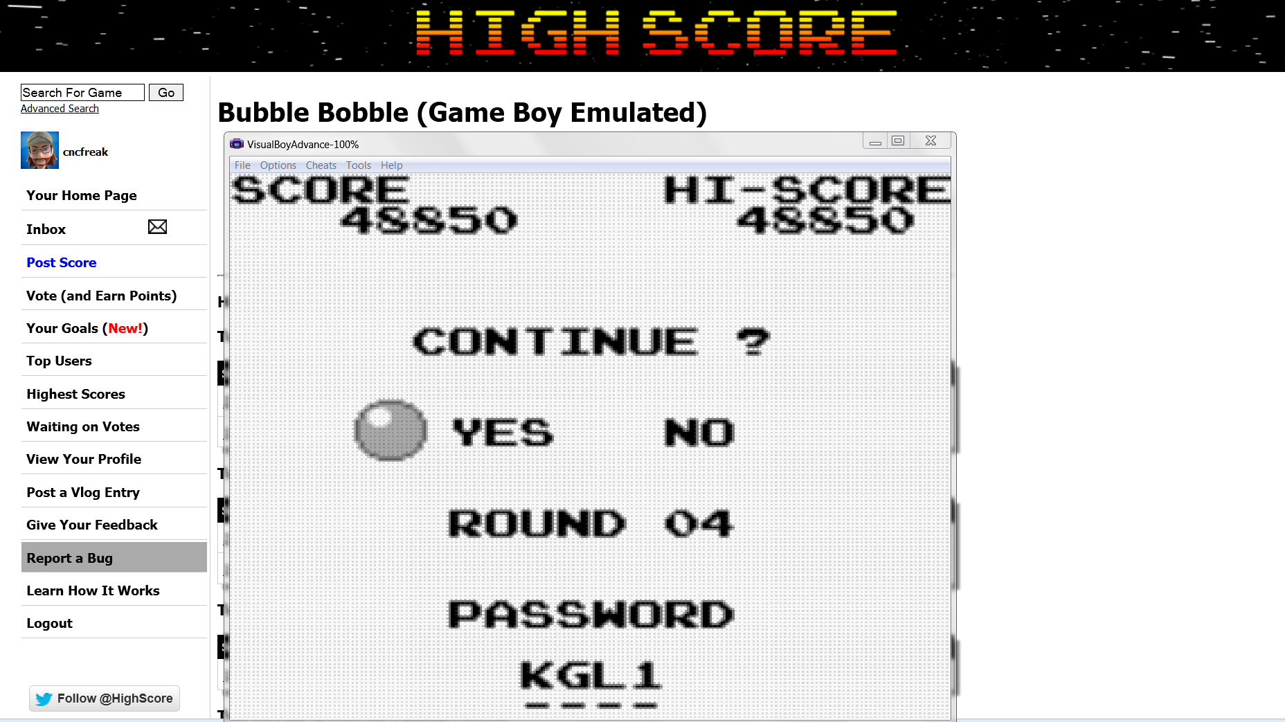 Bubble Bobble 48,850 points