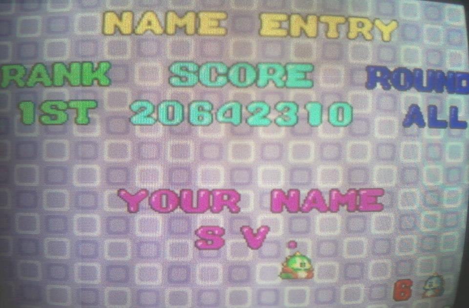 Bust A Move / Puzzle Bobble 20,642,310 points