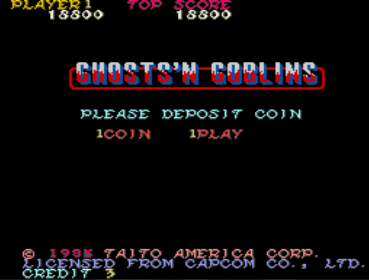 Ghosts N Goblins 18,800 points