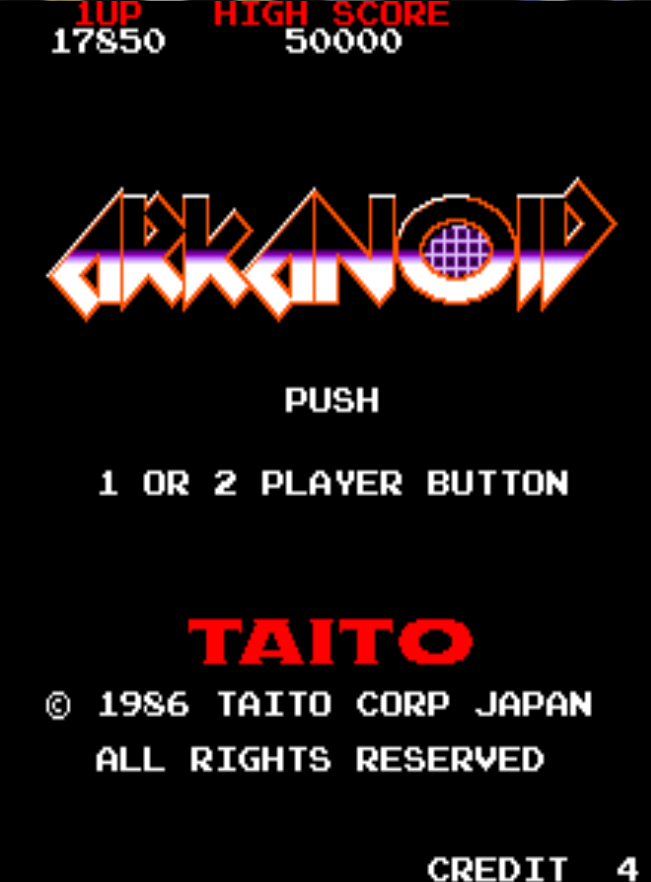 Arkanoid 17,850 points