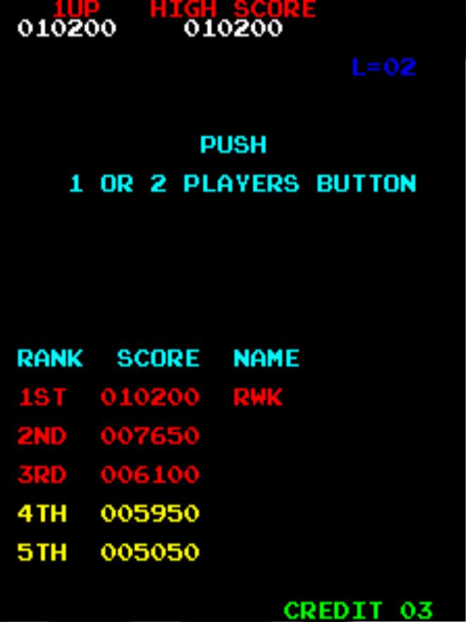 Donkey Kong 10,200 points