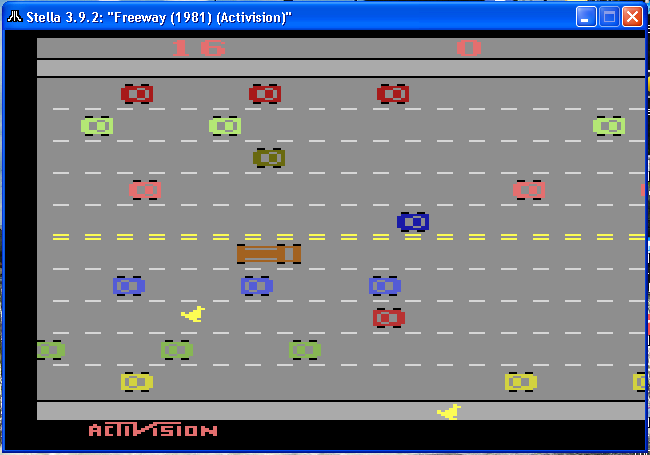 arenafoot: Freeway: Game 3 (Atari 2600 Emulated Novice/B Mode) 16 points on 2014-03-10 14:41:12