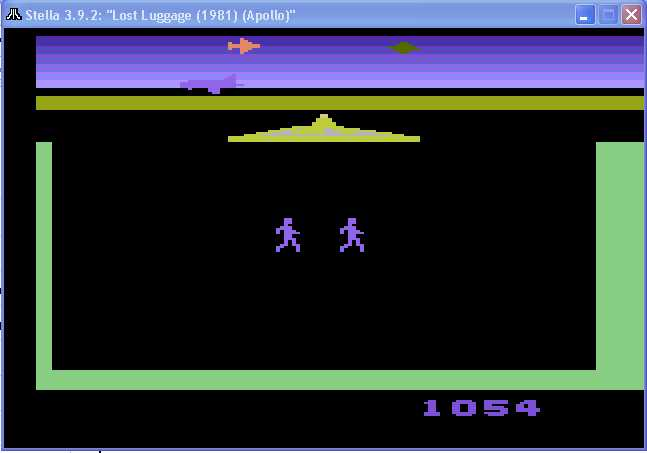 arenafoot: Lost Luggage (Atari 2600 Emulated Novice/B Mode) 1,054 points on 2014-03-10 16:58:18