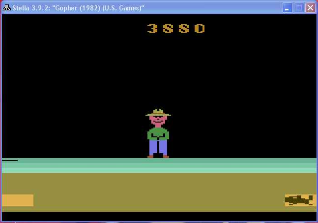 arenafoot: Gopher (Atari 2600 Emulated Novice/B Mode) 3,880 points on 2014-03-10 17:00:43