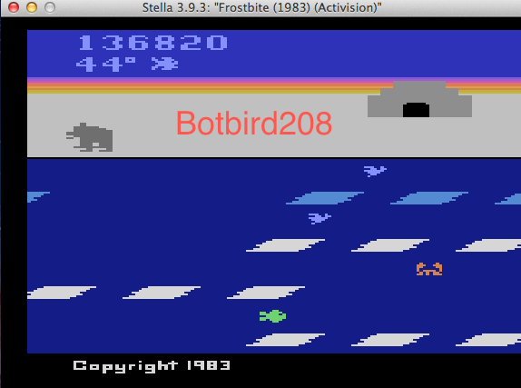 Botbird208: Frostbite (Atari 2600 Emulated) 136,820 points on 2014-03-11 20:08:08
