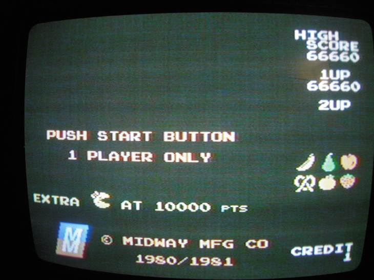 Pac-Man Collection: Ms. Pac-Man 66,660 points