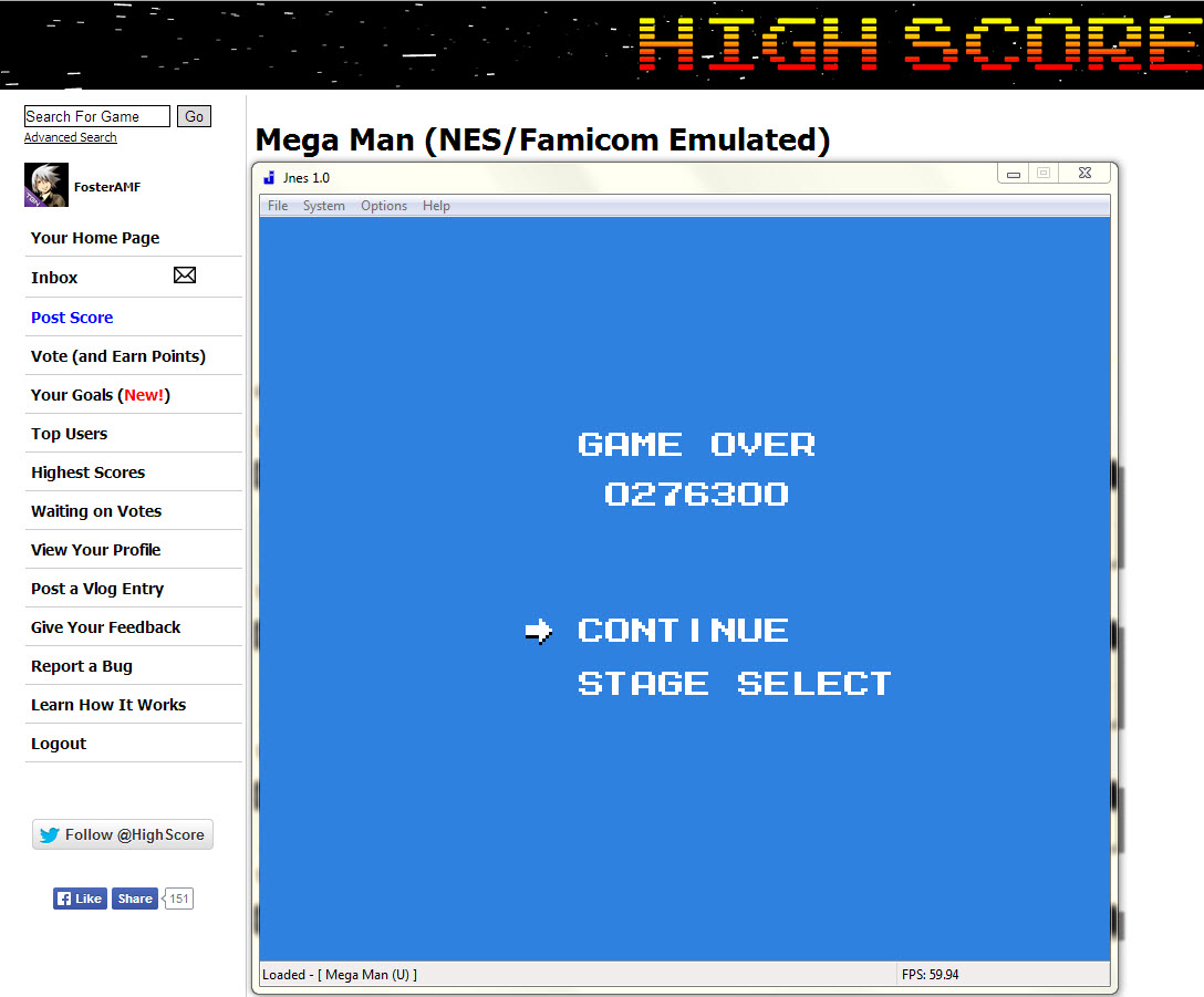 Mega Man 276,300 points