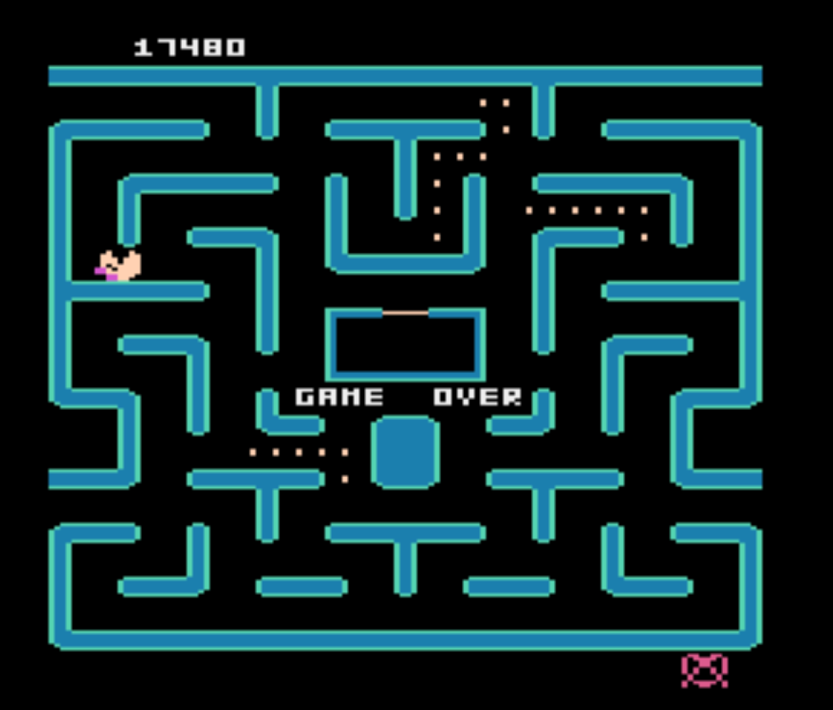Ms. Pac-Man 17,480 points