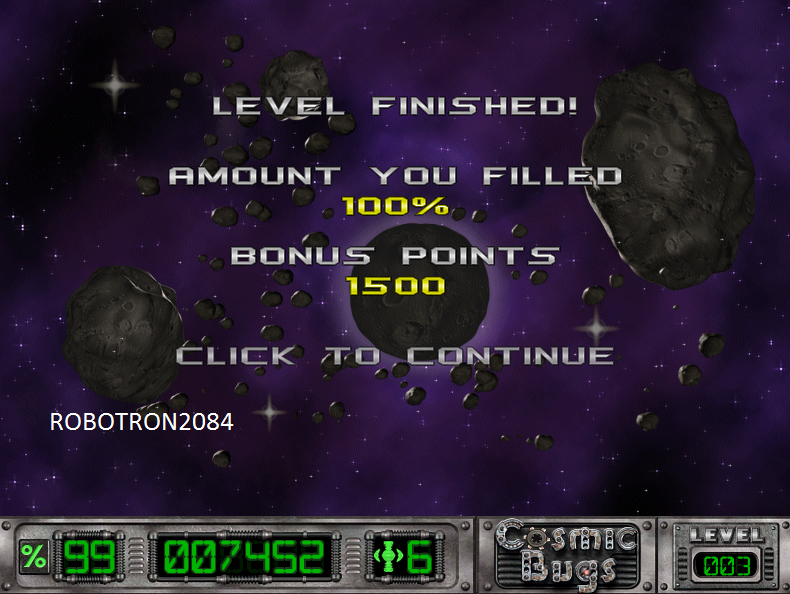 Cosmic Bugs: Level 003 [Percentage] 100 points