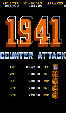 RichyS: 1941: Counter Attack (Arcade Emulated / M.A.M.E.) 324,700 points on 2014-03-16 17:54:03